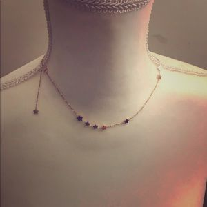 Gold Star Clavicle Chain Necklace